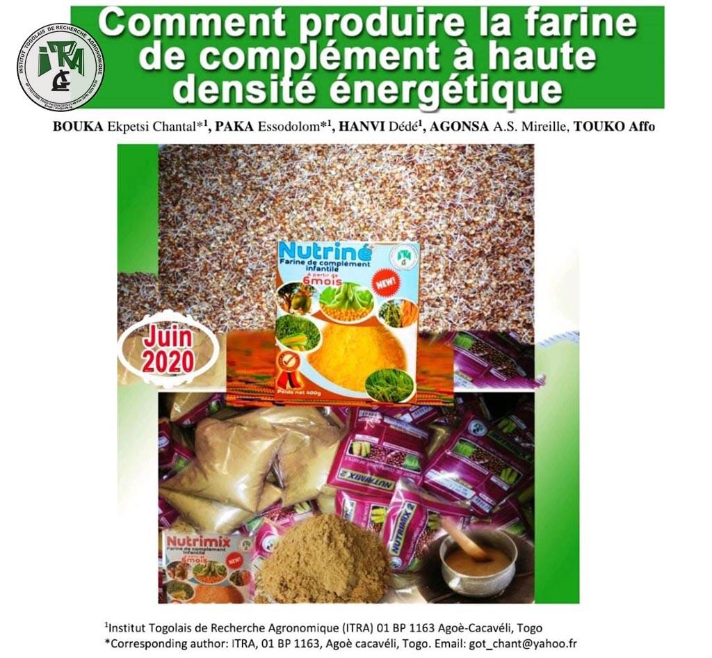 Comment produire la farine de complément à haute densité énergétique?